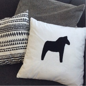 Cushion Cover Dala Black